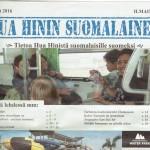 Minna ei täksi talveksi Hua Hiniin päässyt, mutta oli aktiivisesti mukana myös nyt ilmestyvän lehden tekemisessä. Kuva reilun vuoden takaa.