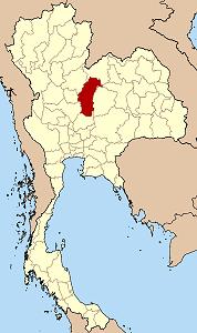 Tässä on Phetchabunin provinssi Thaimaan kartalla. Naapuriprovinsseja ovat esim. Khon khaen ja Lopburi.