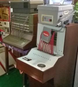 Sentraali-Santran työvälineitä kyltin mukaan 1970 -luvulta.