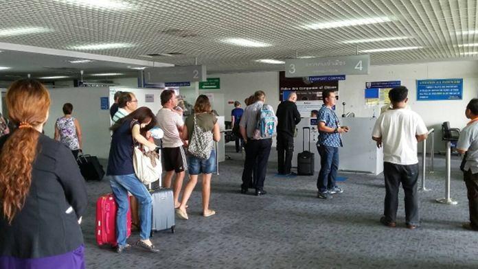 Hat Yain lentokentällä on tänä päivänä vähän samanlainen väsynyt meininki kuin Don Muangillakin Bangkokissa.