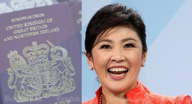 Vahvistamattomien tietojen mukaan Yingluck elelisi nyttemmin Lontoossa brittipassinsa turvin.